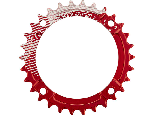 Sixpack K-Ring Narrow Wide Kettenblatt rot